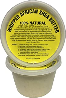 afrikaimports Whipped African Shea Butter Creamy, White, 16 oz.