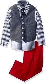 Nautica Boys' 4-Piece Vest Set with Dress Shirt, Tie, Vest, and Pants