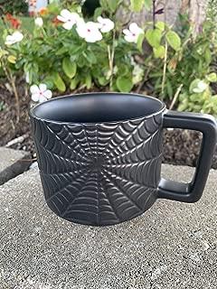 2019 Starbucks Halloween Limited Edition Webb Black Tonal Ceramic Coffee Mug Cup, 12Fl Oz