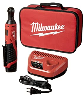 "Milwaukee 2456-21 M12 Cordless 1/4"" Lithium-Ion Ratchet Kit"
