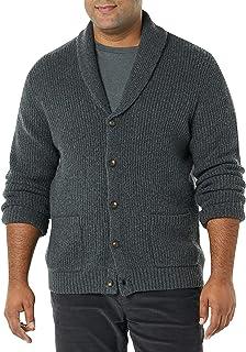 Men's Long-Sleeve Soft Touch Shawl Collar Cardigan