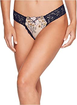 Hanky Panky - Embroidered Denim Low Rise Diamond Thong