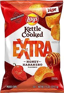 Lay's Extra Kettle Cooked Potato Chips, Honey Habanero, 7.75oz Bag