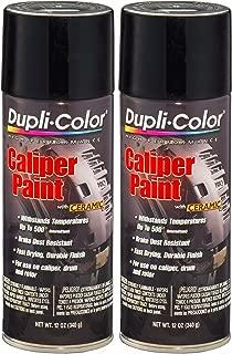Dupli-Color BCP102 Gloss Black Caliper Paint with Ceramic 12 oz. Aerosol (2 PACK)