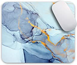Oriday Gaming Mouse Pad Custom for Home and Office, Modern  Marbling Design for Women Non-Slip Rubber Thick Mouse Pad for Computers Desktops, PC, Laptop (Blue Ocean)