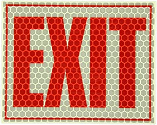 """Cyalume Adhesive Glow in The Dark and Reflective Exit Sign – Photoluminescent Sign with Reflective Adhesive Backing for Increased Visibility – 8"""" x 10"""", White"""