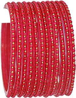 comprar comparacion JDZ Collection - Pulseras de cristal indio, para mujer, 12 brazaletes de cristal