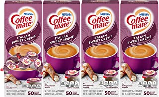 Nestle Coffee mate Coffee Creamer, Italian Sweet Creme, Liquid Creamer Singles, Box of 50..
