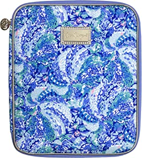 Lilly Pulitzer Blue Agenda Folio with Interior Pockets and Zip Close, Travel Portfolio Sized to Fit All Lilly Personal Pla... photo