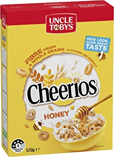 UNCLE TOBYS CHEERIOS Honey Cereal, 570g