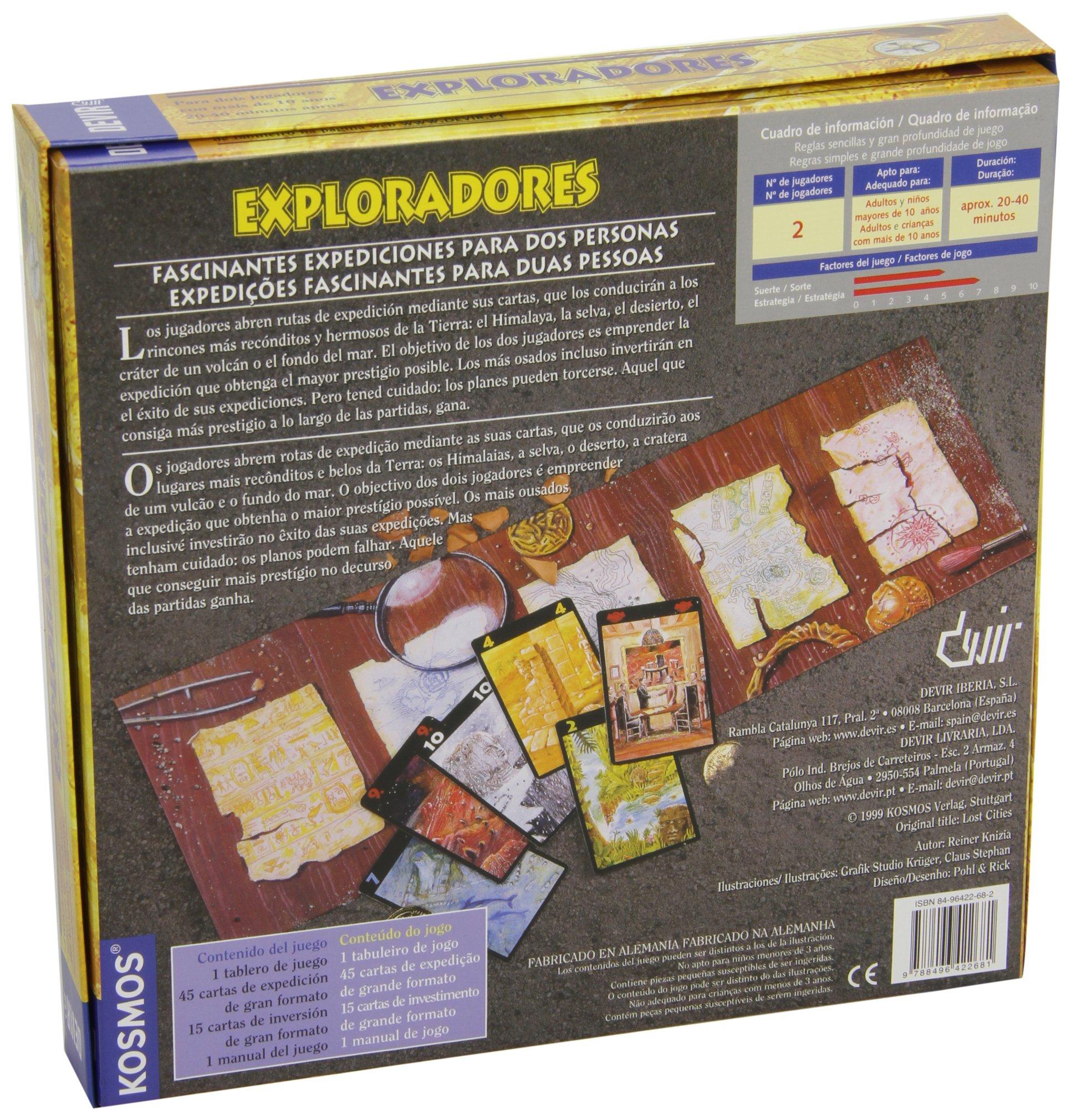Devir - Exploradores, Juego de Mesa (BGEXPLORA): Amazon.es: Juguetes y juegos