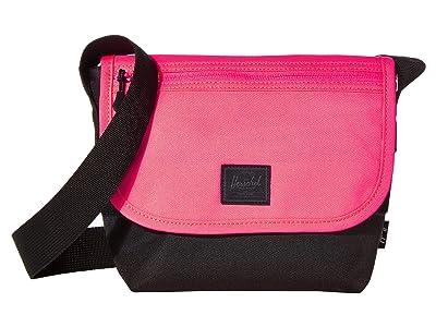 Herschel Supply Co. Grade Mini (Neon Pink/Black) Messenger Bags