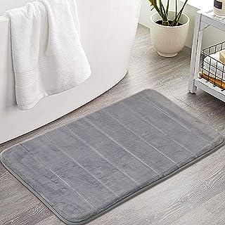 Memory Foam Bath Rug Non Slip Absorbent Bathroom Rugs with TPR Backing Ultra Soft Bath Room Floor Mat Kitchen Runner Restr...
