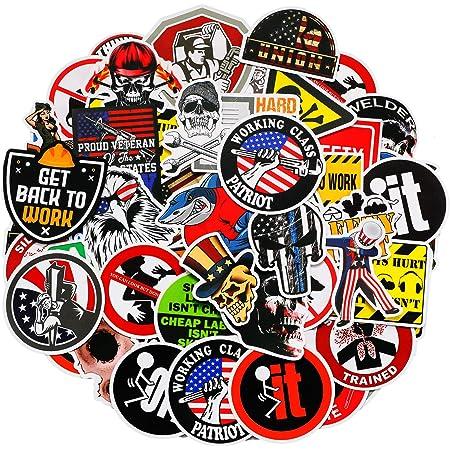 Funny Hard Hat Hardhat Decals Tool Box Toolbox Biker Helmet Stickers