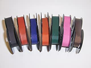 Universal Typewriter Ribbons - 7 COLOR PACK Twin Spool Fresh and New Fabric Ribbons
