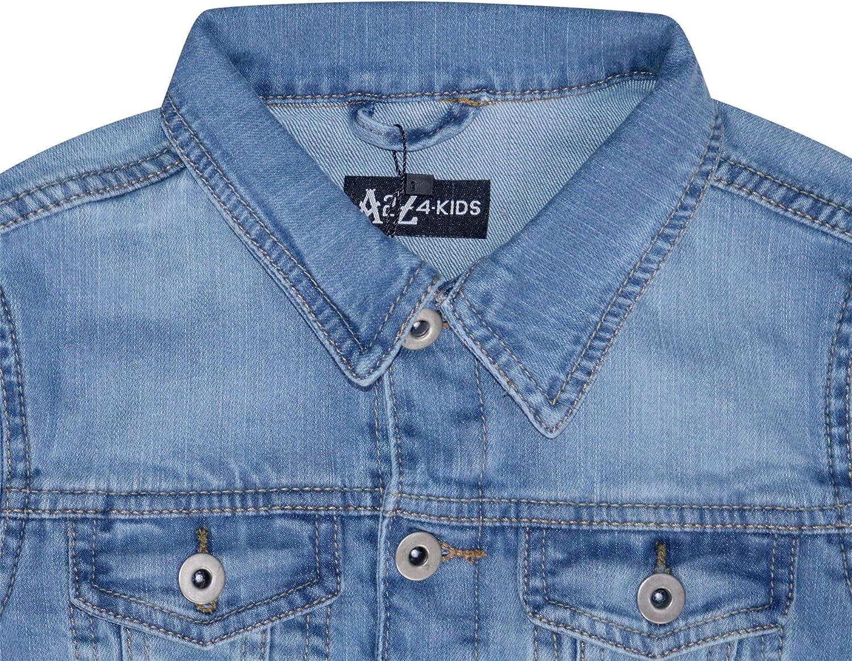 A2Z 4 Kids/® Kids Boys Jacket Designers Denim Style Stylish Fashion Trendy Jeans Jackets Coats New Age 3 4 5 6 7 8 9 10 11 12 13 Years