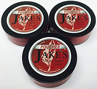 "Jake's Mint Chew - Cinnamon - 3 Pack-""Pouches"""