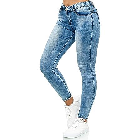 elara Pantalones Vaqueros Mujer Push Up Skinny Chunkyrayan Azul YF9518 Blue-48 (4XL)