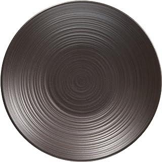 白山陶器 錆巻(φ12×2.2㎝) 黒 (約)φ12cm  陶茶托 波佐見焼 日本製