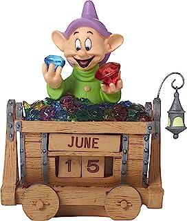 Precious Moments 172710 Dopey's Brilliance Resin Perpetual Calendar Disney Showcase, Snow White & Seven Dwarves, Multi