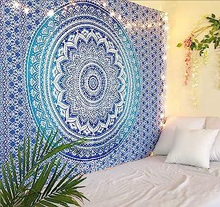 Jiya MURTI Arts Tapestry Mandala Ombre Tapestry Wall Hanging Bedsheet Cotton Bedsheet Wall Tapestry Bed Wall Hanging Tapes...