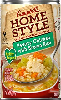 Campbell's Homestyle Healthy Request Savory Chicken with Brown Rice Soup, 18.6 oz.