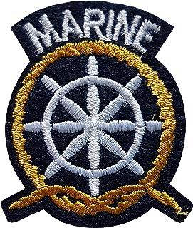 7,7cm Corps Marine United States Patch US USA /États Unis Am/érique Army Militaire Biker Motard /Écusson Tissus Thermocollant Cameleon-Shop
