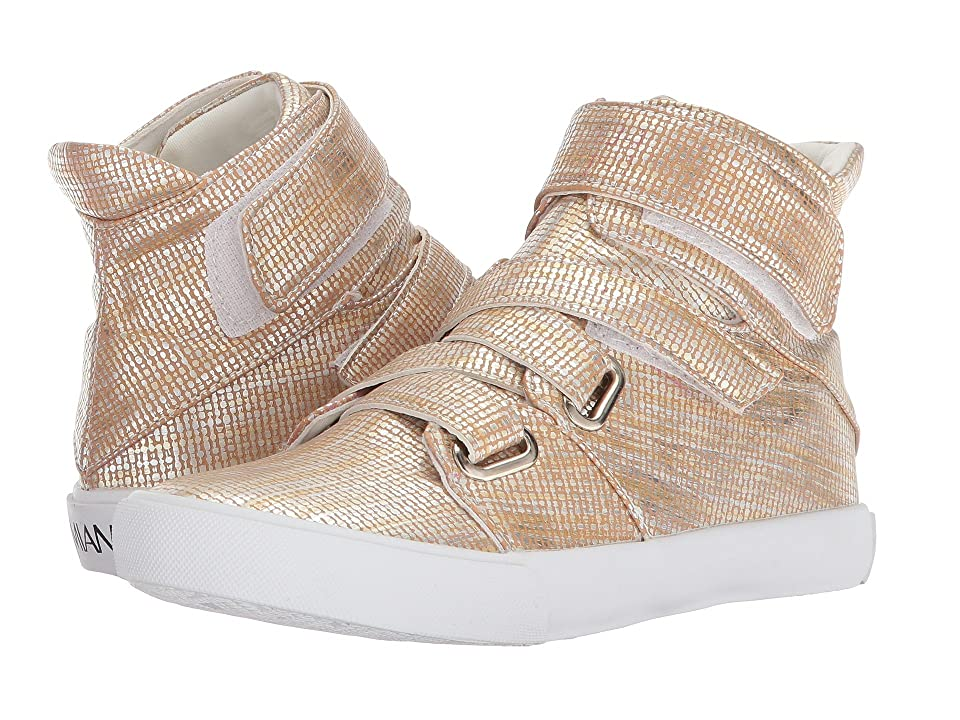Image of Amiana 15-A5468 (Toddler/Little Kid/Big Kid/Adult) (Gold Burlap PU) Girl's Shoes
