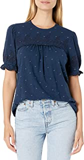 Lucky Brand Women's Short Sleeve Crew Neck Printed Top