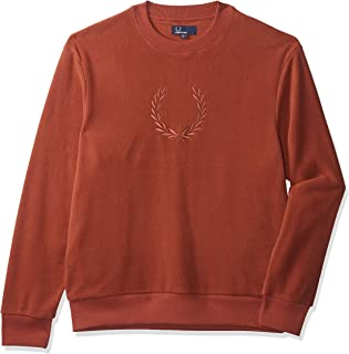 Fred Perry Men's Embroidered Fleece Sweatshirt, Red (Paprika), X-Large