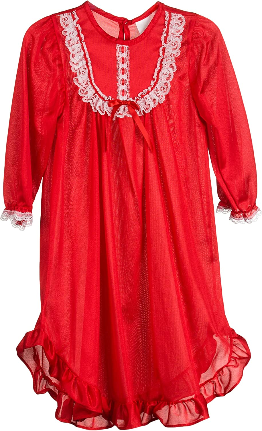 Laura Dare Big Girls Long Sleeve Traditional Nightgown, 8-14