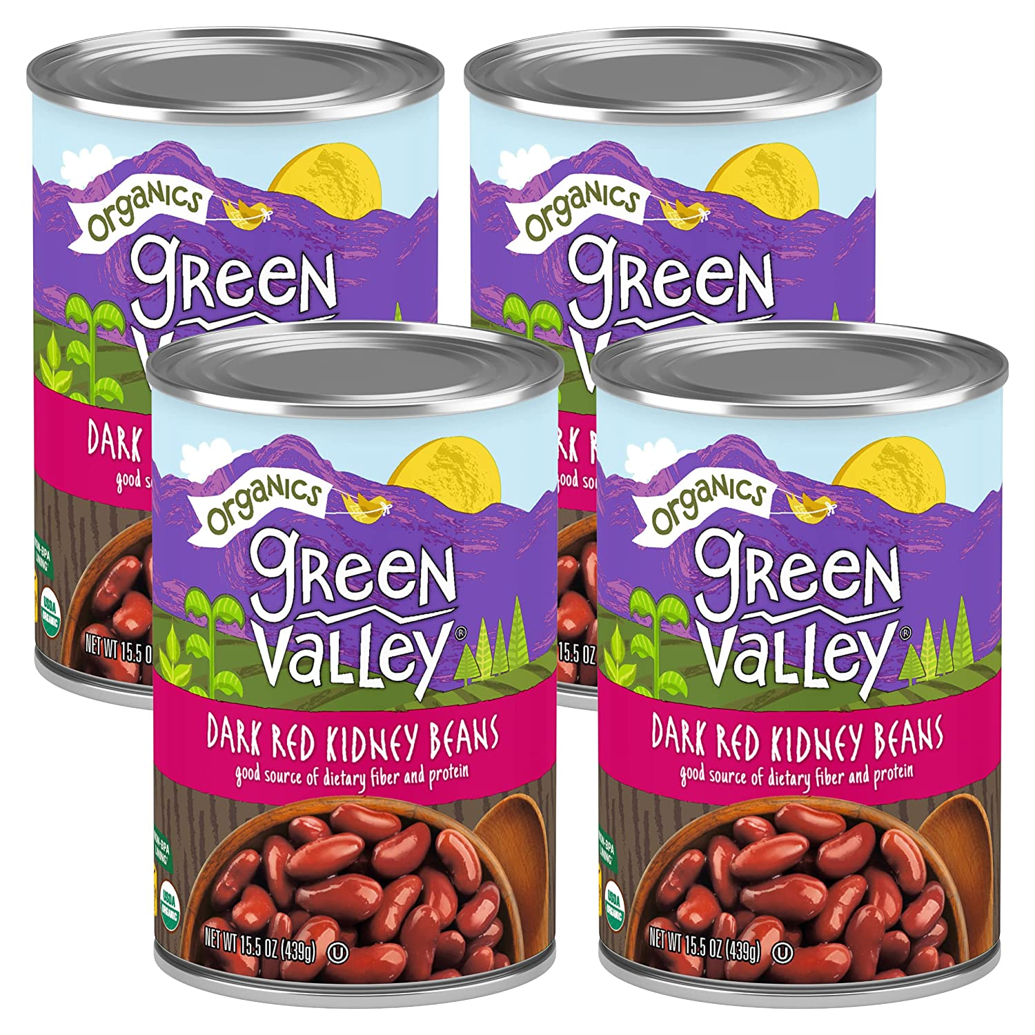 Green Valley Opening large release sale Organics Dark Omaha Mall Red Organic Certified Beans Kidney