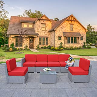 Best harrison 7 piece dining set patio garden furniture Reviews