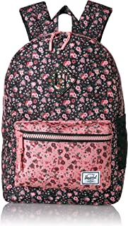 Herschel Heritage Youth Kid's Backpack, Multi Ditsy Floral Black/Flamingo Pink, One Size