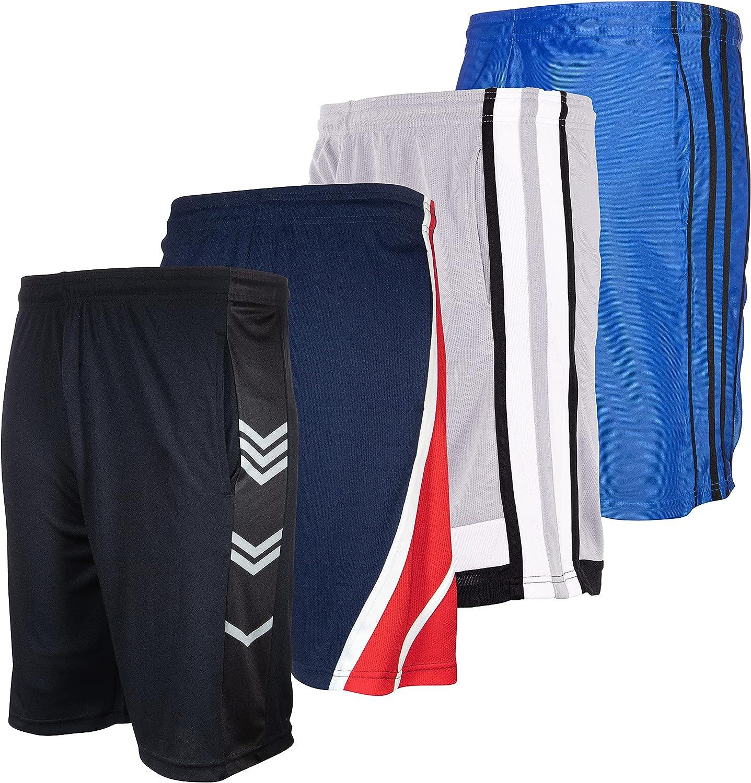 High Energy Long Basketball Shorts for Fitn 春の新作続々 Pack 4 Men Sports 海外輸入