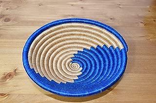 Handmade in Rwanda Small Hand Woven African Basket 7 Inches Sweetgrass Basket SRB186