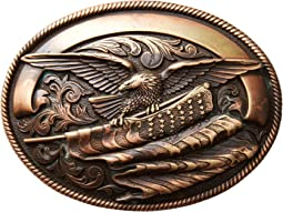 Oval Eagle Flag Buckle