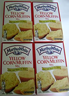 Martha White Yellow Corn Muffin Mix 7.5 Oz (Pack of 4)