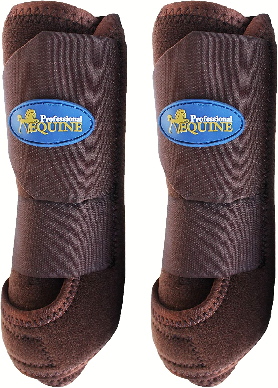 Professional Equine Medium Sports Medicine Front Splint Boots Brown 41DBA