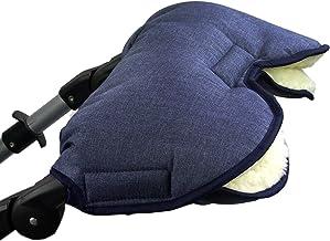 BAMBINIWELT universaler Muff/Handwärmer für Kinderwagen, Buggy, Jogger mit Wolle, meliert MARINEBLAU XX