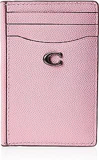 Coach Grain Textured Card Case Blossom 66612