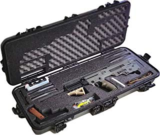 Case Club Pre-Made IWI Tavor Waterproof Rifle Case with Accessory Box & Silica Gel to Help Prevent Gun Rust