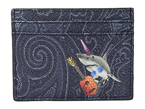 Etro Card Holder Shark Etro Shark Navy Card 6xwOvqS1E