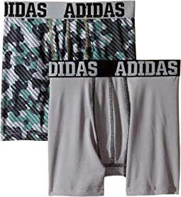 adidas Kids - Sport Performance Climalite Graphic 2-Pack Boxer Brief (Big Kids)