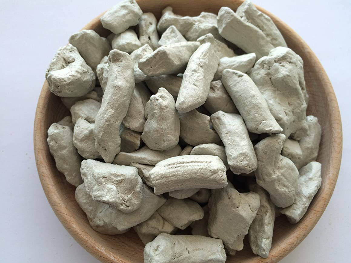 Uclays GRAY Clay Pressed chunks (lump) natural for eating (food), 1 lb (450 g)