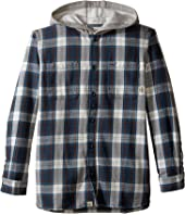 Vans Kids - Lopes Long Sleeve Shirt with Hood (Big Kids)