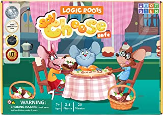 Logic Roots Say Cheese Multiplication Game - Fun Math Board Game for 8 - 10 Year Olds, Easy to Play STEM Toy for Kids at H...