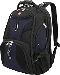 SWISSGEAR 1900 ScanSmart Laptop Backpack | Fits Most 17 Inch Laptops and Tablets | TSA Friendly Backpack | Ideal for Work, Travel, School, College, School, and Commuting- Blue/Black