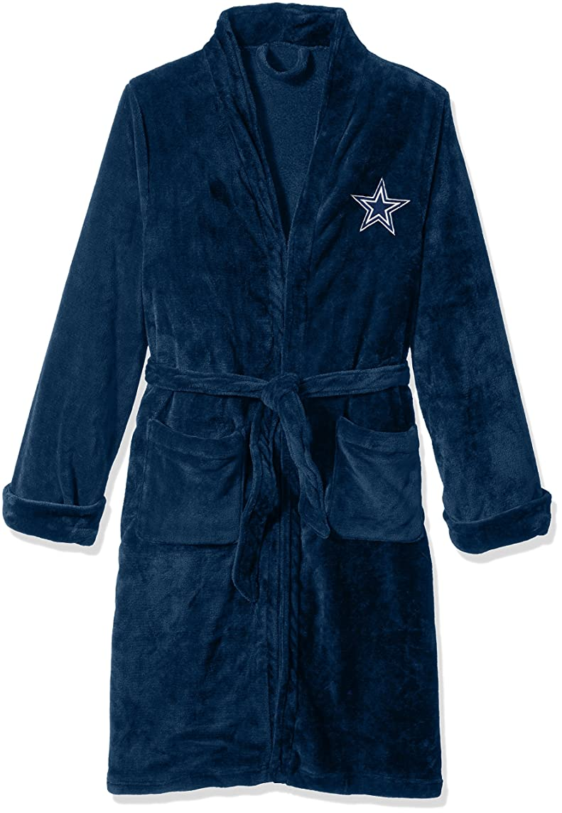 The Northwest Company Officially Licensed NFL Men's Silk Touch Lounge Robe, Large/X-Large