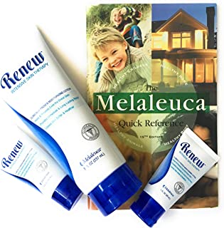 Melaleuca Renew Intensive Skin Therapy Moisturizing Lotion Tube (8 oz) with 2 Travel Size Tubes (1 oz) plus Quick Reference Guide
